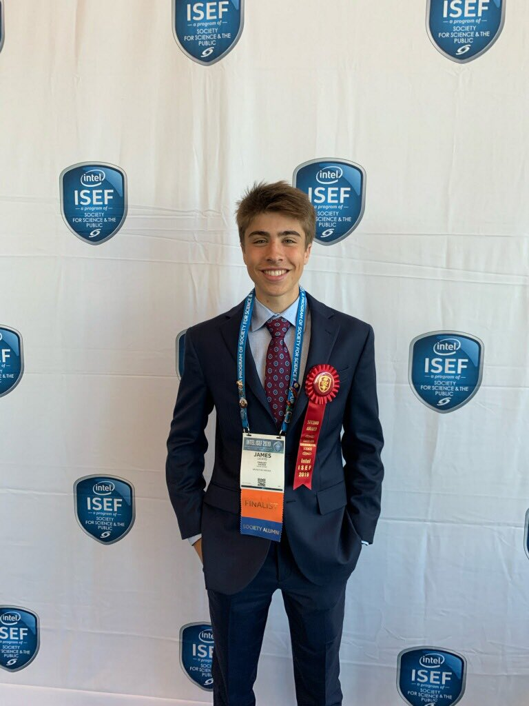 Congratulations to James Licato INTEL ISEF 2nd Place in Earth and Env. Sciences <a target='_blank' href='http://twitter.com/APSVirginia'>@APSVirginia</a> <a target='_blank' href='http://twitter.com/GeneralsPride'>@GeneralsPride</a> <a target='_blank' href='http://search.twitter.com/search?q=intelisef2019'><a target='_blank' href='https://twitter.com/hashtag/intelisef2019?src=hash'>#intelisef2019</a></a> <a target='_blank' href='https://t.co/1ZA7V09RSC'>https://t.co/1ZA7V09RSC</a>