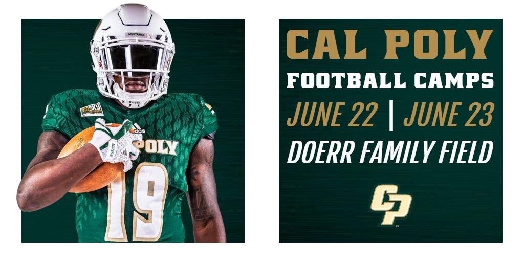 Cal Poly Football Camps June 22 | June 23 #RideHigh | #CalPoly Link: bit.ly/2HpWADL