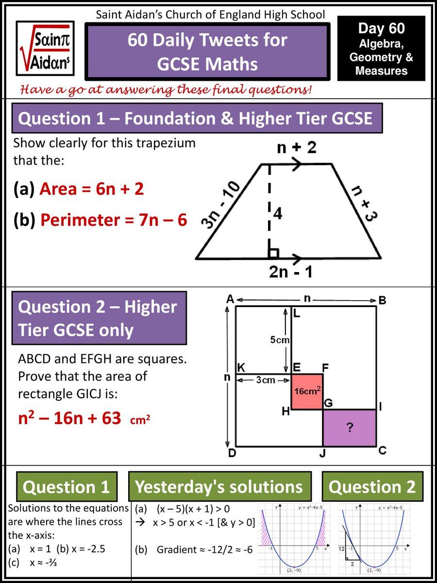 St Aidan's - Maths