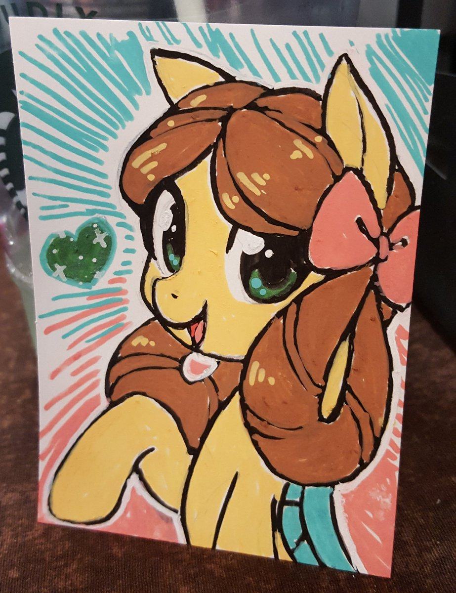 A pony Yona! A traditional one if a kind Posca piece   Want to buy her? She&#39;s $35 at Table 57 at #EFNW2019 ! Stop by and pick up this cutie pie!   #MLP #MLPFiM #brony<br>http://pic.twitter.com/JysAw3qBd2