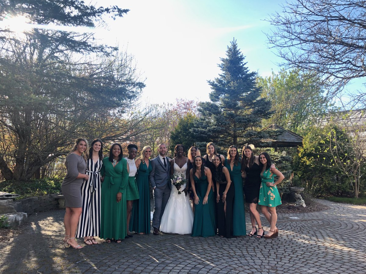 Love seeing our alums get together to celebrate former Bulldog Naana Ankoma-Mensa's c/o ('14) wedding. Congratulations, Naana!   #AllHeart | #AllHustle | #GoBryant