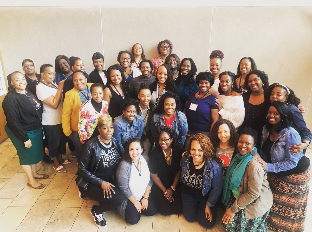 Inspired by and grateful for our three-year partnership with #BlackTherapistsRock! Including this group who just finished their training today, 77 clinicians have joined #TheDaringWay community. Welcome! We're so grateful you're here! #courageovercomfort