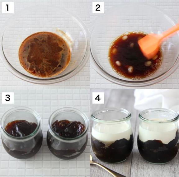 コーヒーゼリー日和ですね<br><br>今すぐ食べたくて震えるときに<br>超速でできる【コーヒーゼリー】ご紹介します<br><br>水100ml、インスタントコーヒー大さじ1、砂糖小さじ5〜大さじ2、粉ゼラチン5gを600Wレンジで30秒加熱。混ぜて溶かし、氷100gを加えどろっとするまで混ぜグラスに移し冷蔵庫で10分冷やし完成!