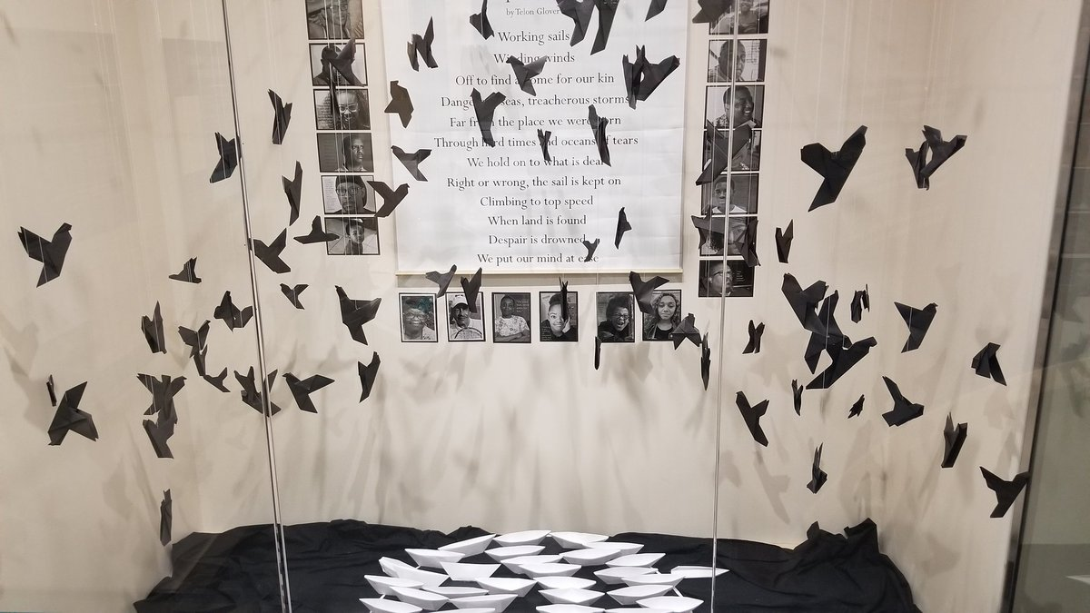 @grcollegiate @grc_art students explored the history of Black Loyalists and the enslaved population at the Thoroughgood House and created a stunning art exhibit giving voices to those often forgotten in history. This exhibit runs until August, so come check it out! #ExploreMW