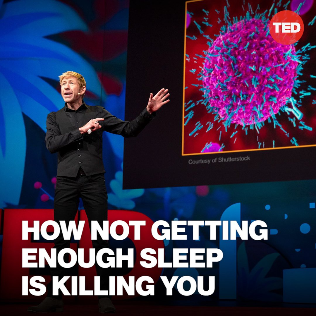 The link between lack of sleep and cancer is now so strong that the World Health Organization has classified any form of nighttime shift work as a probable carcinogen.  http://t.ted.com/BFWOfuD