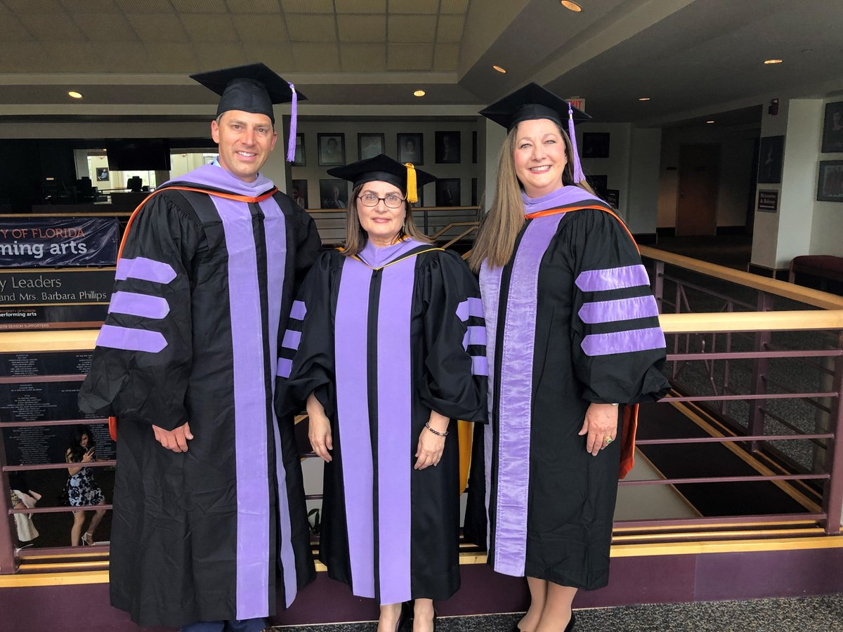 Drs. Brian Rask, UFCD Dean Isabel Garcia and Jolene Paramore at the UFCD graduation. <br>http://pic.twitter.com/OYMcjKegRf