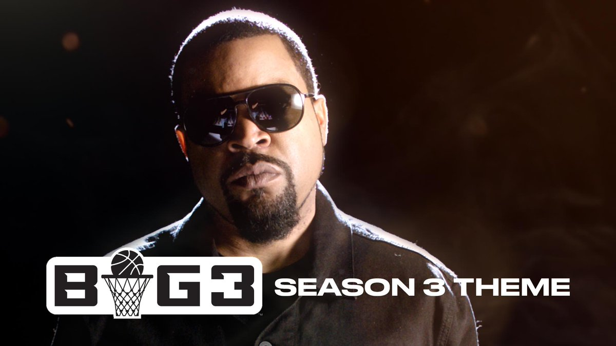 The #BIG3Season3 theme song from @icecube is here and it's 🔥🔥🔥! Watch the BIG3 Saturdays and Sundays starting June 22 LIVE on @CBS and @CBSSportsNet!  -- Tickets for select cities ON SALE NOW at http://big3.com/tickets!