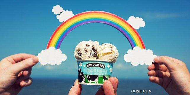 En Ben & Jerry's creemos que si todos compartieran la filosofía: Peace, Love and Ice Cream, este mundo sería distinto. Este #DíaContraLaHomofobia apoyemos con respeto todas y cada una de las preferencias.✌💙 https://t.co/VYFoScYMND