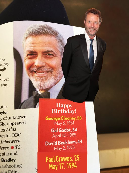 Happy Birthday to George Clooney, Gal Gadot, David Beckham, and our very own Artistic Director,