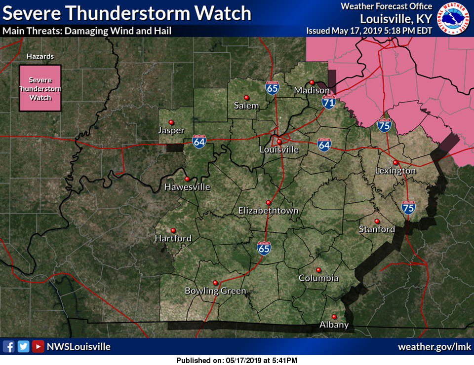 Severe Thunderstorm Watch has been issued for parts of NE KY to include Harrison and Nicholas Counties valid until 11:00PM EDT. #kywx #lmkwx