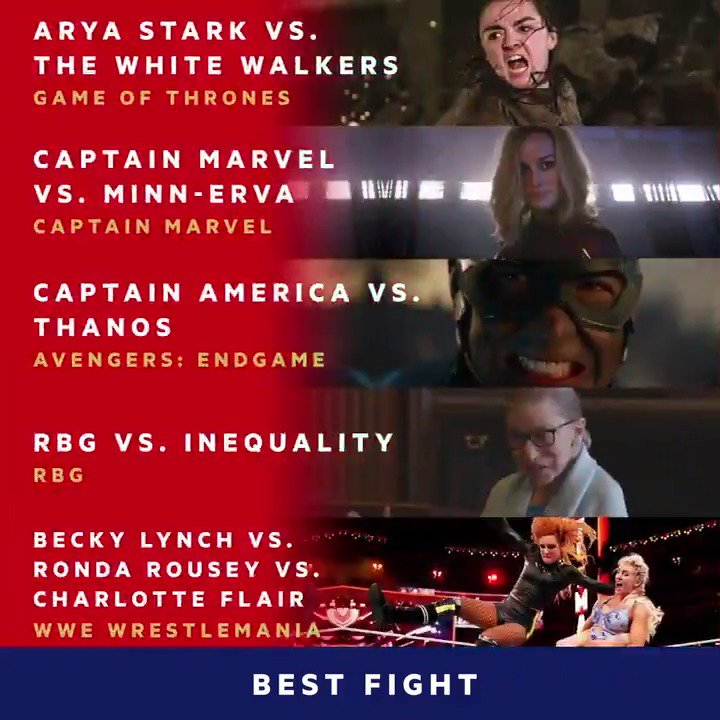 These best fight nominees are fighting for your vote at the 2019 #MTVAwards. Don't let them down http://vote.mtv.com