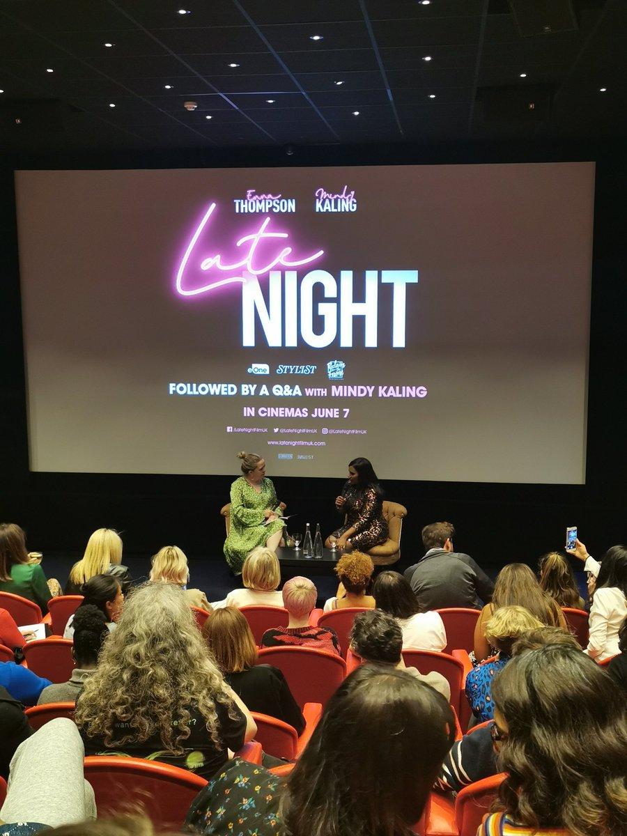 We had a good laugh! @mindykaling @LateNightMovie #LateNightMovie