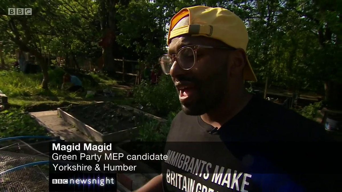 "A people's vote is ""the only way we're going to break the deadlock"".   In Otley, Steve catches up with Green candidate Magid Magid   #newsnight 