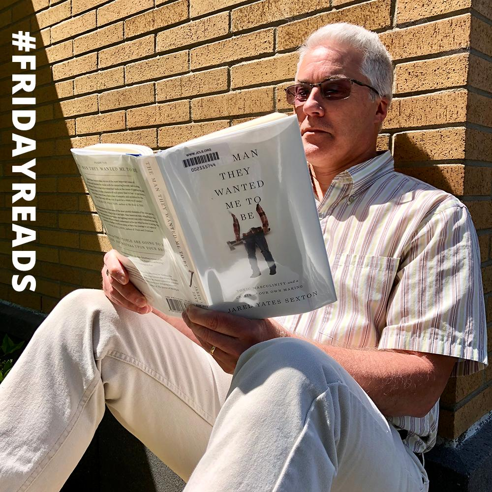 We caught one of our Digital Services folks reading a book made out of paper  Our #FridayReads is The Man They Wanted Me to Be by @JYSexton! <br>http://pic.twitter.com/OnLhtBWxF5