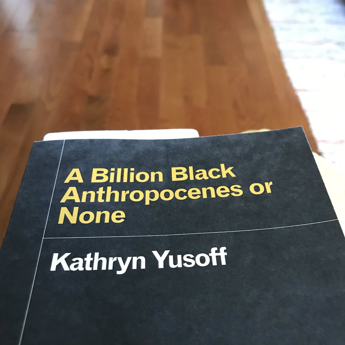 """""""The Anthropocene cannot dust itself clean from the inventory of which it was made: from the cut hands that bled the rubber, the slave children sold by weight of flesh, the sharp blades of sugar, all the lingering dislocation from geography..."""" #FridayReads <br>http://pic.twitter.com/FeQn00Nh59"""