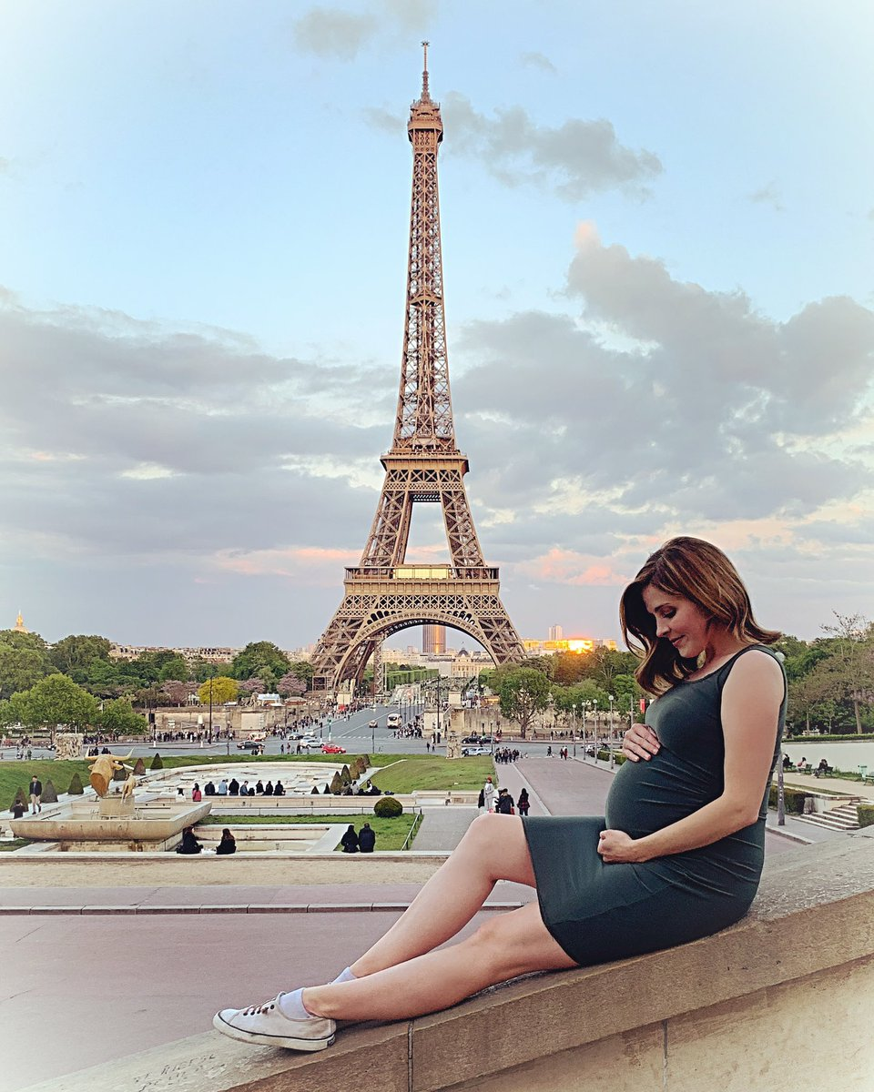 "To complete our #babymoon, I took Jason to Paris for a little #ParisWineAndRomance of our own :) Don't worry, I didn't have wine, but my @hallmarkchannel movie ""Paris, Wine, &amp; Romance"" airs again tonight at 7 PM! <br>http://pic.twitter.com/uuhSNBgHRW"