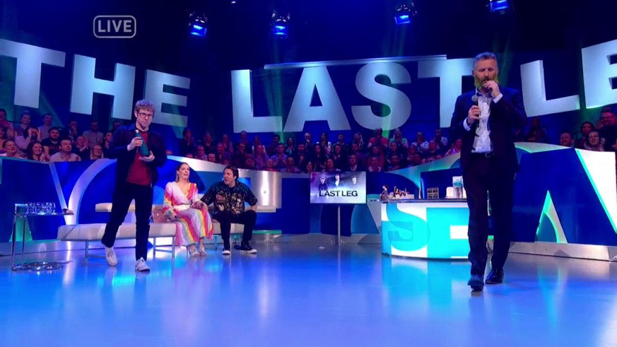 Channel 4's photo on #TheLastLeg
