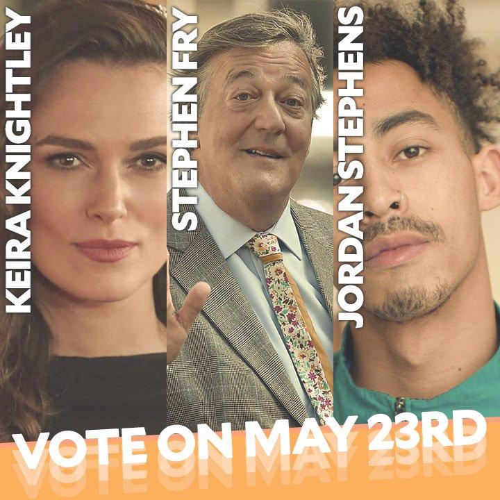Image for the Tweet beginning: Keira Knightley, Stephen Fry, Jordan