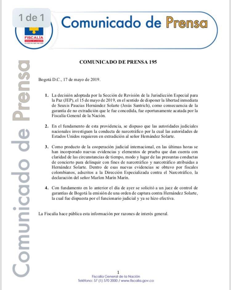 #ATENCIÓN Comunicado a la opinión pública