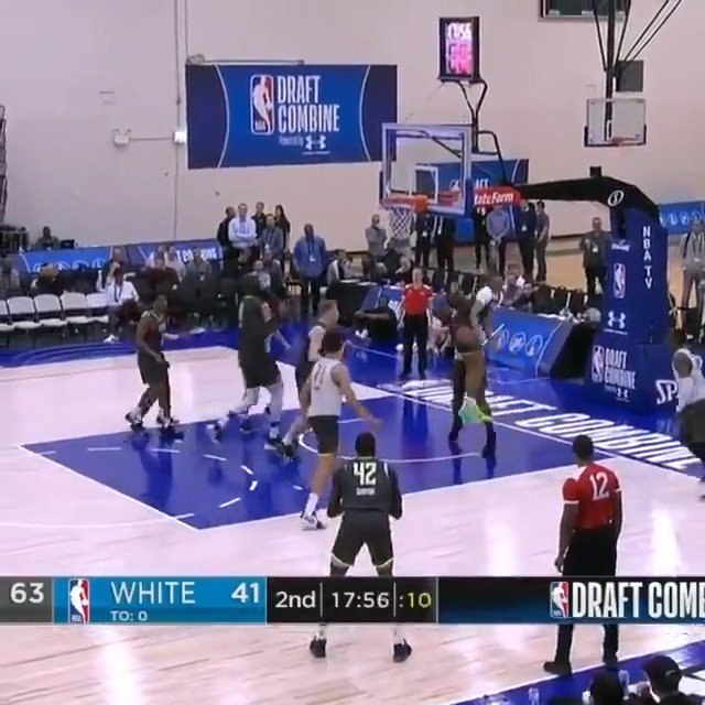 Ignas Brazdeikis (@_iggy_braz) and Darius Bazley (@BazleyDarius) running the two-man game at the #NBACombine Powered by Under Armour! 📺: ESPN2