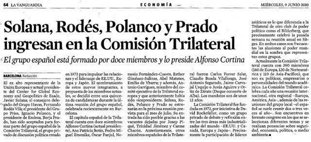 @andrei_kononov Tampoco es de extrañar teniendo en cuenta la estrecha relación del Grupo Prisa con miembros del Club Bilderberg a través de Juan Luis Cebrián o la asistencia de Ignacio Polanco (también de Jaime Carvajal Urquijo) a las reuniones de la Comisión Trilateral: ow.ly/ZsEG30ffRD1