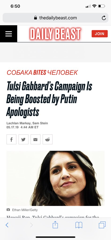 Total bs fabricated smear of @TulsiGabbard Don't buy it. She has more than 65,000 donors and they found 3 with views that fit their pre-conceived narrative. Tulsi has literally put her life on the line for our country. You may not like her views but she's a patriot. Full stop.