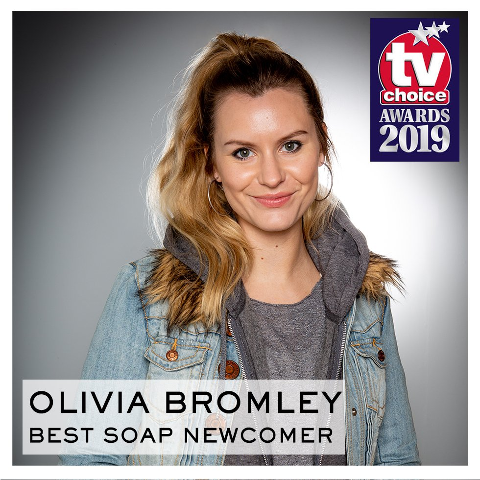 Voting for @TVChoice Awards is open!  VOTE Best Newcomer: @OliviaBromley: http://bit.ly/2HvEeA6