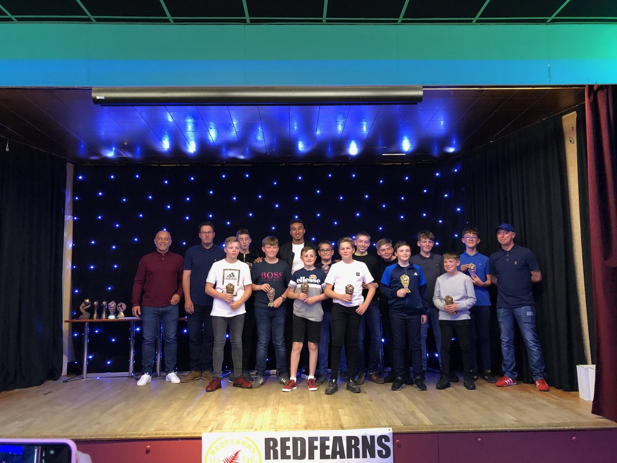 Massive thank you to @jacob_browny8 for gracing our presentation night. Redfearns jfc boys were very pleased with the guest of honour