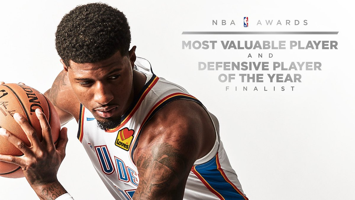 978ce4a6af3 just announced paul george named one of three finalists for both mvp amp  defensive player of