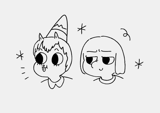 my first pitch went well today so i feel confident tweeting that I'm storyboarding on Summer Camp Island < :•0