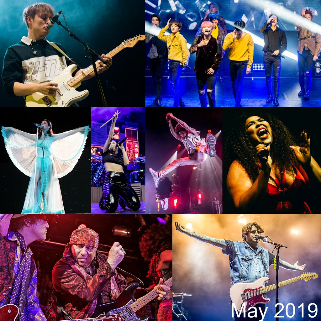 Here are some of our favourite shots from the month of May including @samfendermusic, @SF9official, @MarinaDiamandis, @AnneMarie, @ONEOKROCK_japan, @lizzo, @StevieVanZandt & @LTAmusic #livemusicphotography