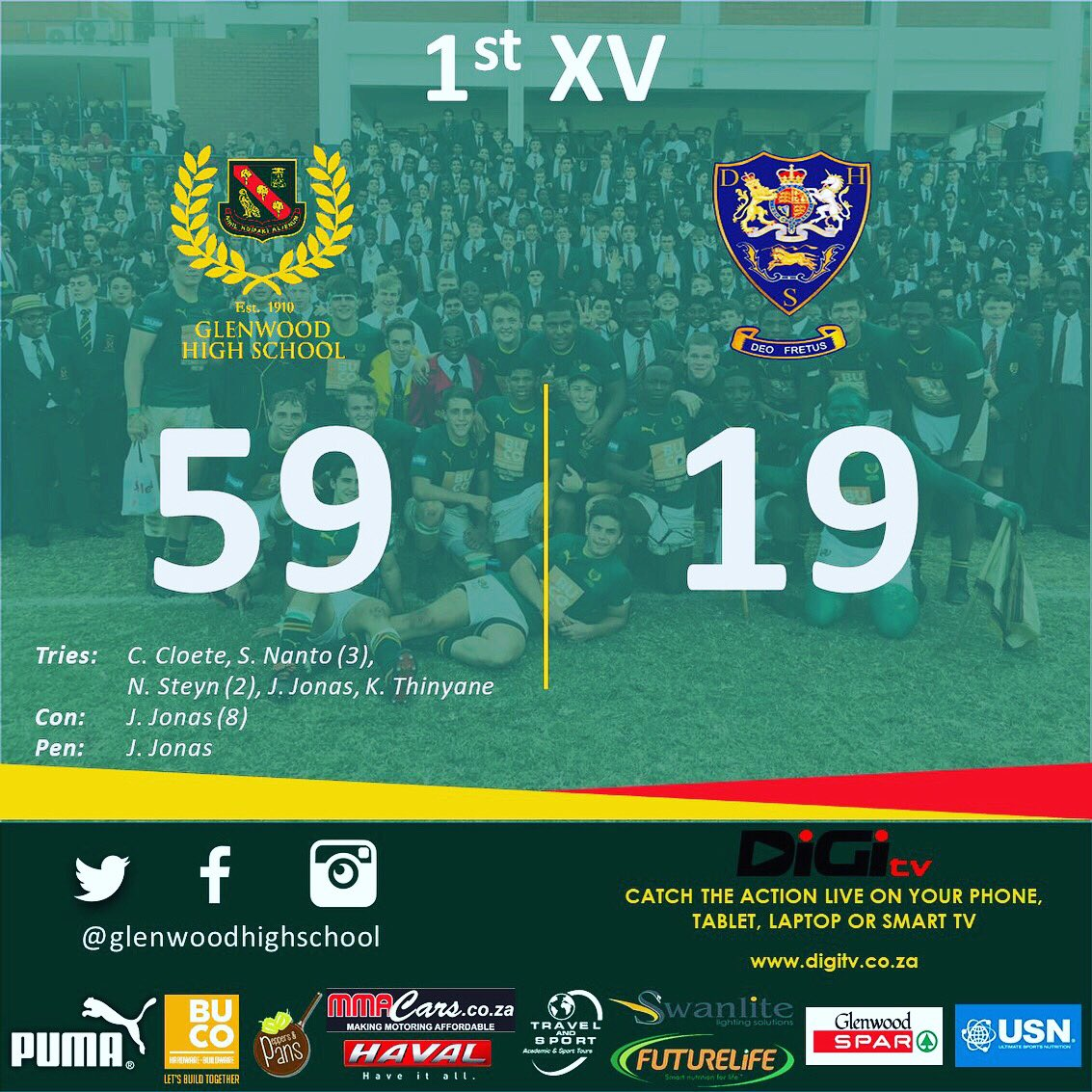 D7-9UzzXoAAAgrR School of Rugby | School of Rugby Rankings - 23 April 2018 - School of Rugby