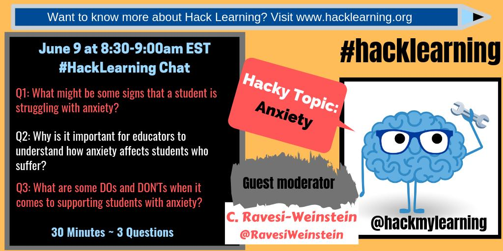 #HackLearning chat. Our 'hacky' topic this morning is anxiety. Let's start with introductions.