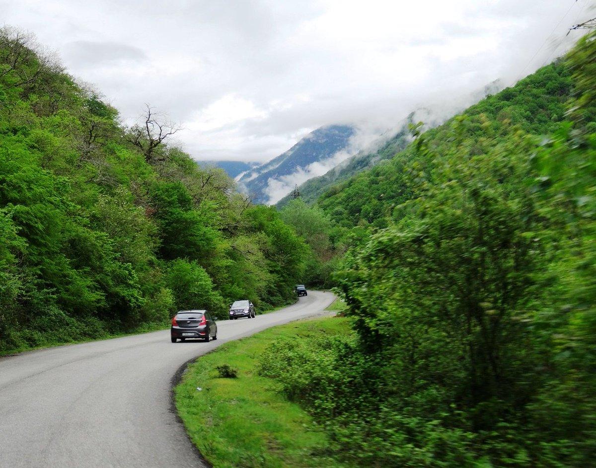 Дорога в абхазию серпантин фото