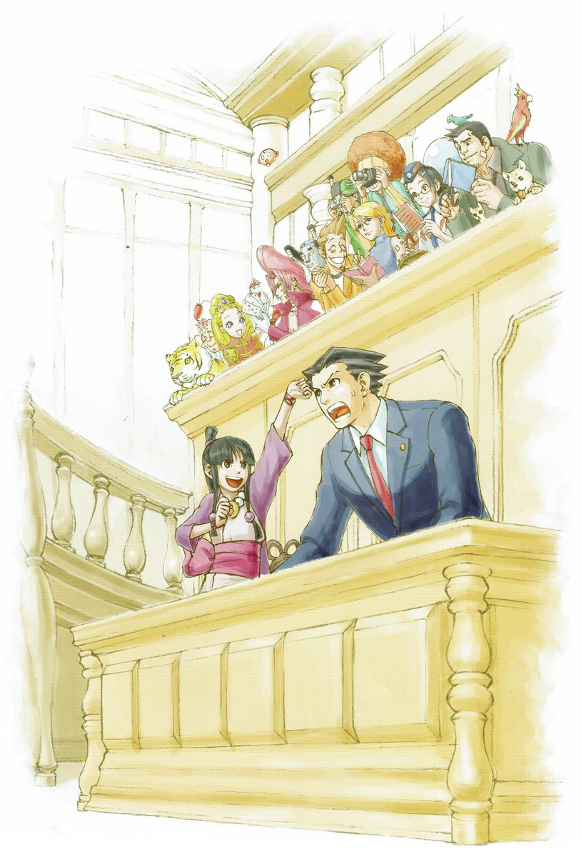 Videogameart Tidbits On Twitter Phoenix Wright Ace Attorney Series Promotional Artwork