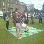 We're out in the sunshine at #BelperGoesGreen today offering energy advice. @CCANNetwork