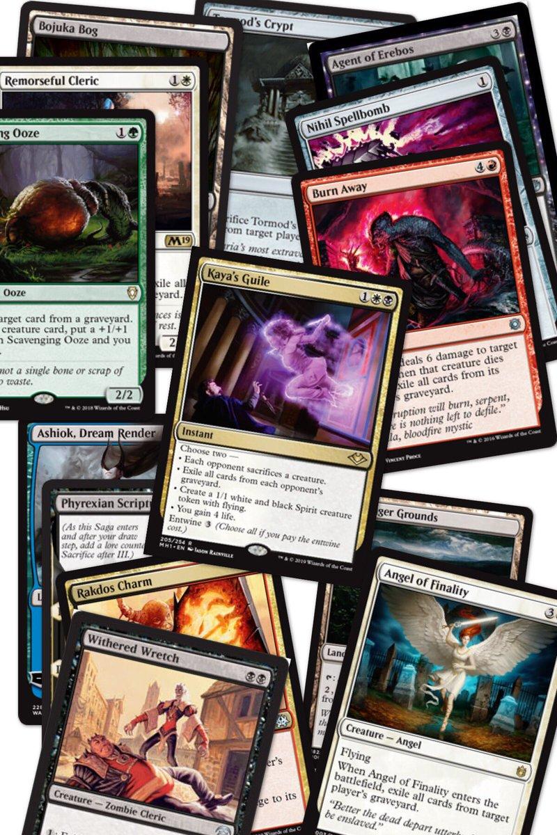 PSA: find room in your Commander decks for more graveyard hate Tweet