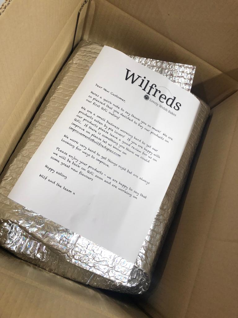 test Twitter Media - Super excited - @qvcuk our first boxes of new larger Wilfreds pies are heading out in the post today - whoop whoop! https://t.co/Vnii6T2HBn