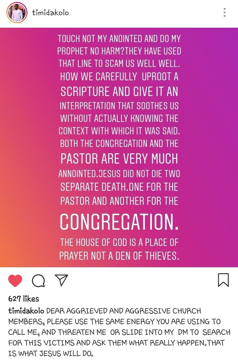 """D70Ou36XoAAvn Q - What Nigerians are saying After Timi Dakolo """"Allegedly"""" Accused COZA Pastor Of Sexually Abusing Women"""