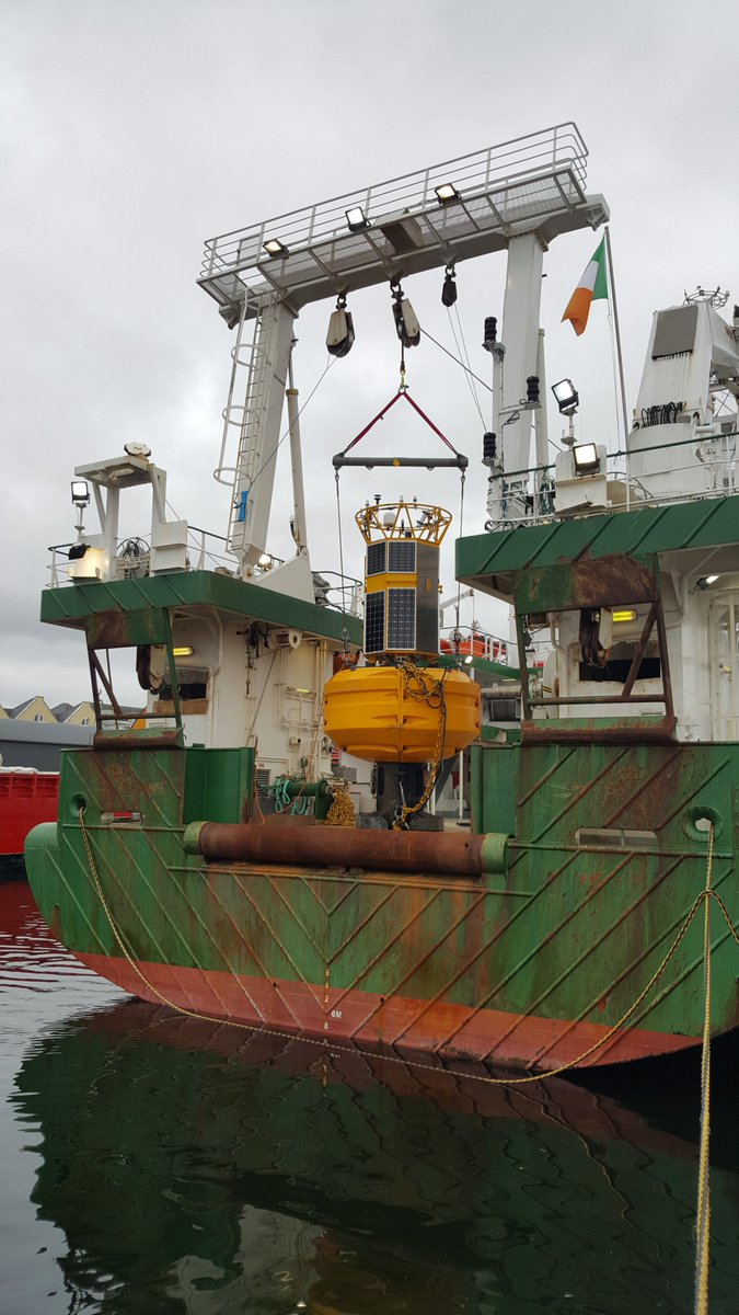 test Twitter Media - Fixed OBS topside satellite and acoustic equipment attached to M6 weather buoy leaving on the Celtic Explorer on 24th May 2019. Bon voyage! @MarineInst @GeolSurvIE #iMARL #DIASdiscovers https://t.co/7KhYz1A0n4
