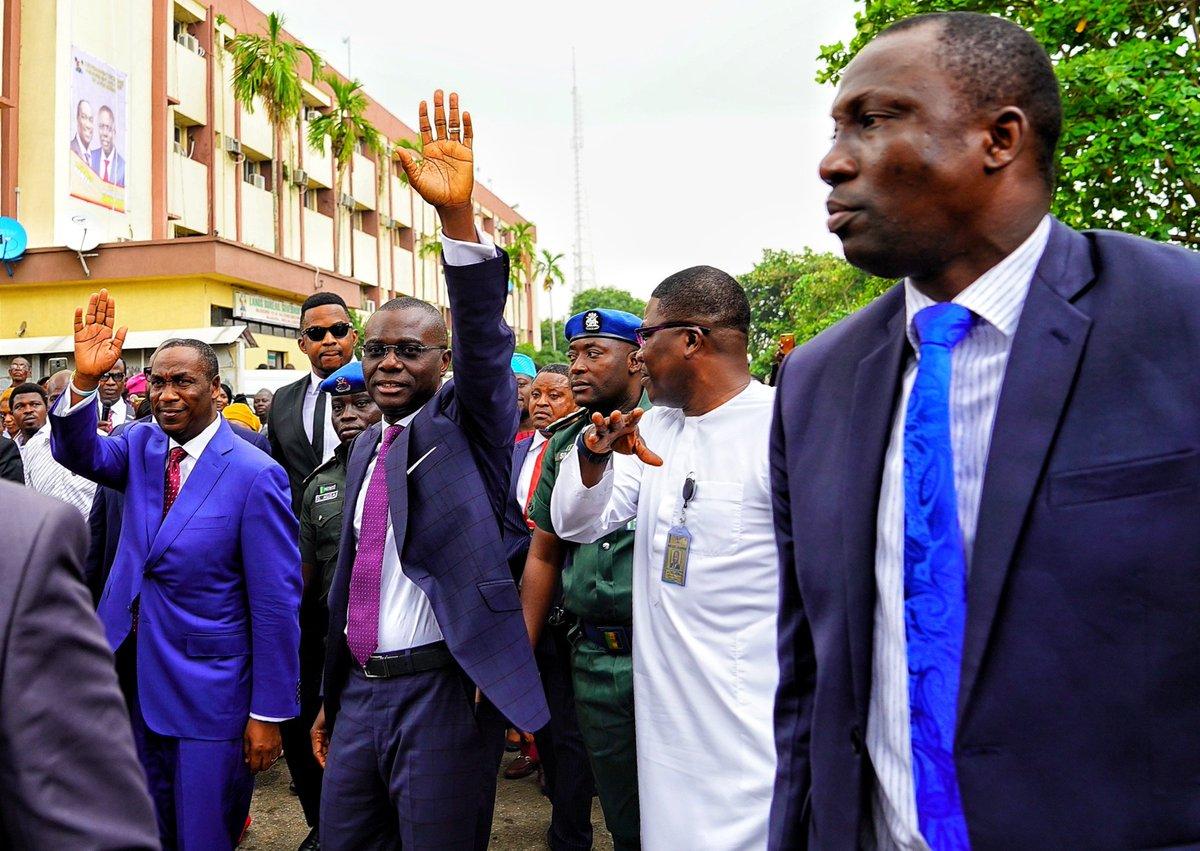 D70d4VhXoAEE93y - Photos: Lagos State Governor, Babajide Sanwo-olu, Shares Details Of The Two Things He Did On His First Day At Work