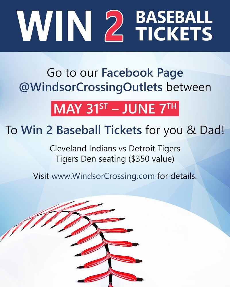 ce3a83b87c Win 2 Baseball Tickets for Father's Day! Go to our Facebook Page between  May 31st and June 7th for your chance to win! Visit http://www.