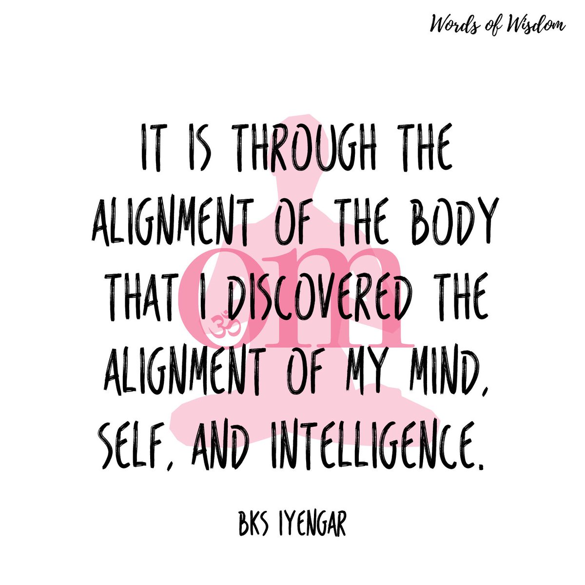 Our words of wisdom this month come from BKS Iyengar. #omwordsofwisdom #bksiyengar
