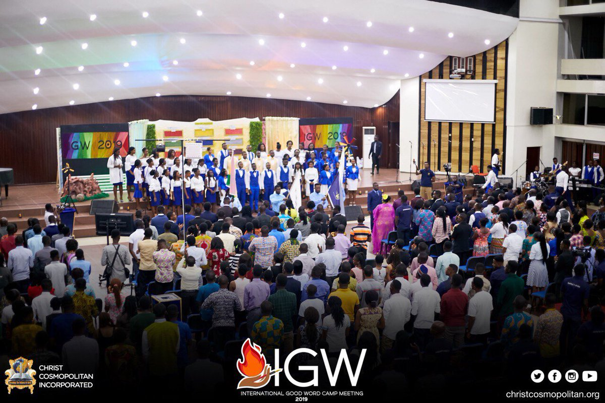 Such spine-tingling ministration😃 by the CCI Choir as we sang Ghana, CCI and Cosmopolitan TV anthems at the Grand Opening of IGWC2019.   #IGWC2019  #GrandOpeningIGWC2019  #NationalAnthem #Knust