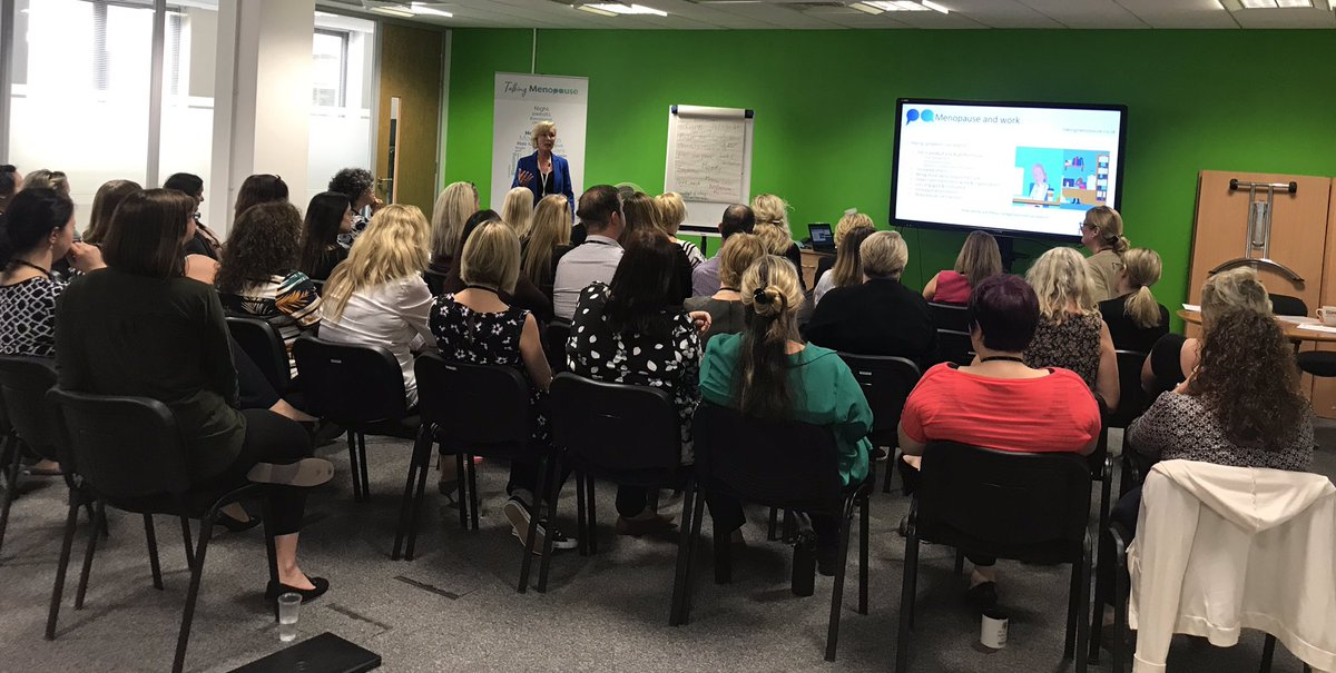 Positive #talkingmenopause conversations at @paragonbankuk sharing potential reasonable adjustments to support #managers & women suffering from #menopause symptoms