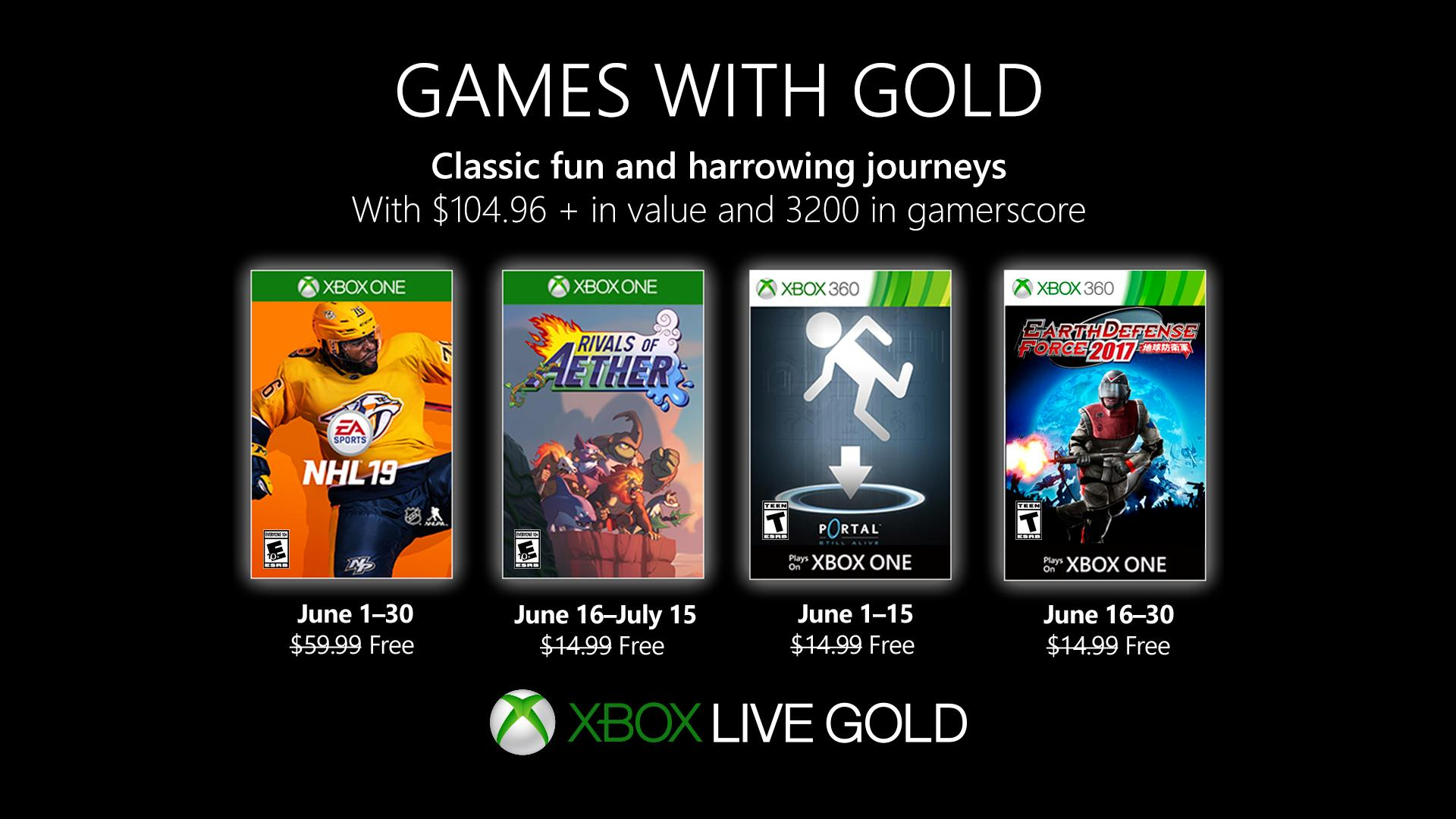 Games With Gold giugno  Games With Gold june