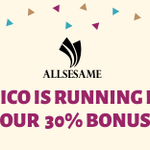 Image for the Tweet beginning: Allsesame PRE-ICO started. Join our
