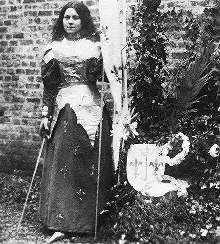 "Joan Pope on Twitter: ""St. Thérèse of Lisieux as Joan of Arc, 1895… """