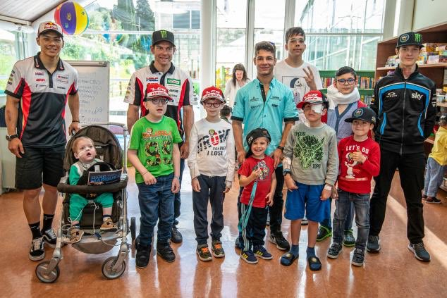 Today we visited at Meyer Hospital in Florence. Best pre event ever ❤️ #ItalianGP