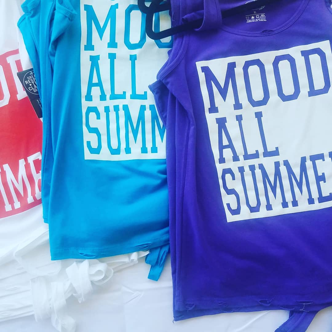 http://www.greatdecadeapparel.com  #mood all summer tee @greatdecadebrand #spring #summer #releases #may1 #mood #premiumfitted #seamdistress #womens #tanks available in #white #turquoise #purple #beachbum #virginiabeach #venicebeach #miamibeach #galvestonbeach #onslowbeach #bahamas